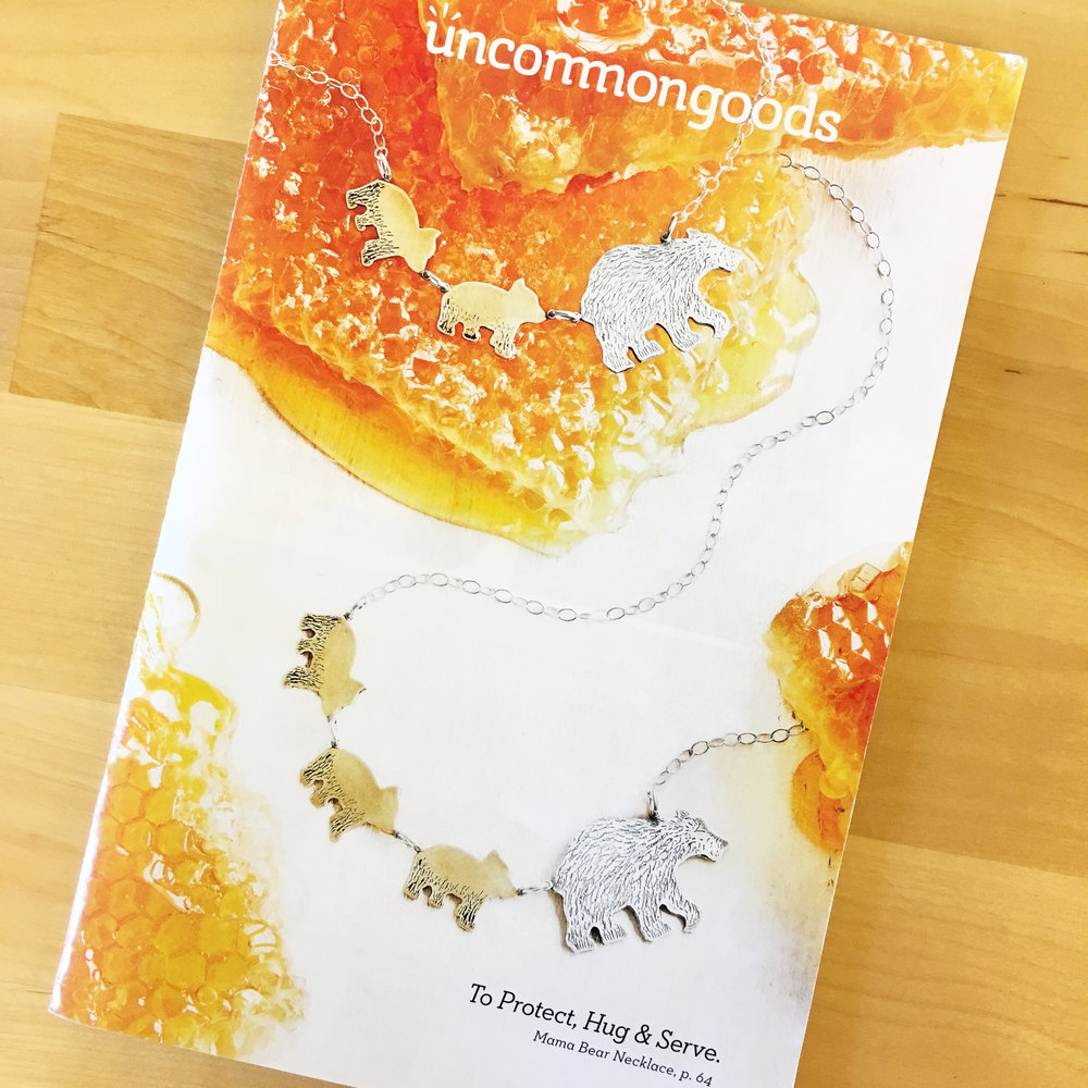 Click the catalog photo to read the blog post by our partner, UncommonGoods!