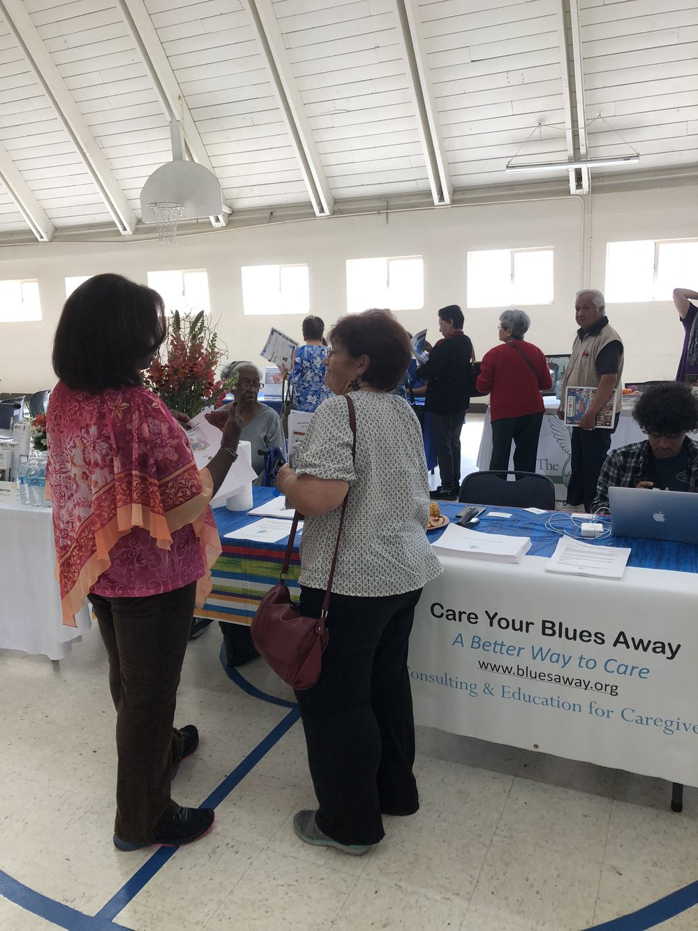 Co Founder Teri Shepherd speaking with Memory Fair guest about the importance of Healthy Habits for Caregivers.