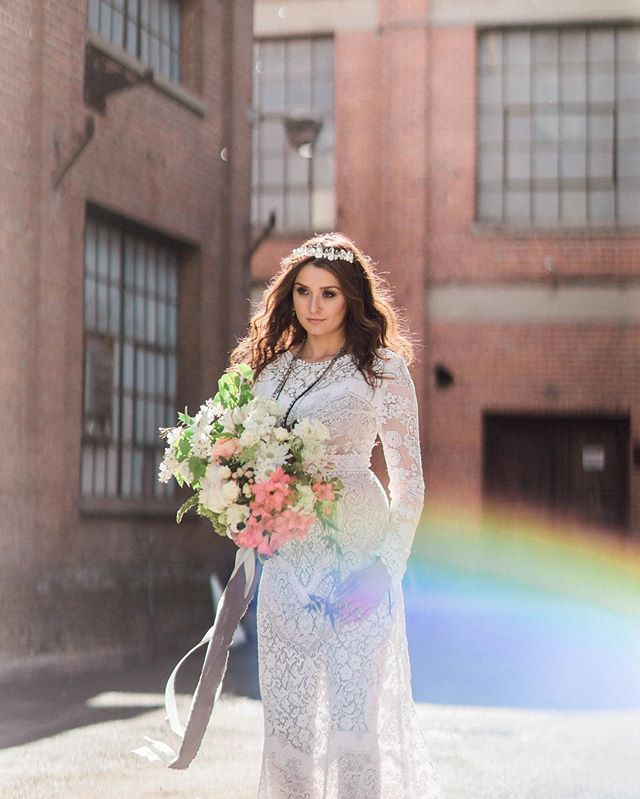 You remember what rain makes, right? 🌈 . . .  Photographer | @ashleynoelleedwards  Lead Coordinator & Stylist | @eventsbyrebecca  Boutique Rentals, Stylist & Designer | @tinrooffarmhouse  Hair & Makeup | @christireynoldsbeauty  Floral Design | @mignonfloralco  Gown | @saldanavintage  Ring | @trumpetandhorn  Ribbon | @tornandtied  Cake | @paperheartpatisserie  Catering | @root49catering  Paper Goods & Calligraphy | @stephaniesobierski  Venue | @theoldsugarmill . . . #photoshoot #wedding #bride #weddinginspo #shopidolatry