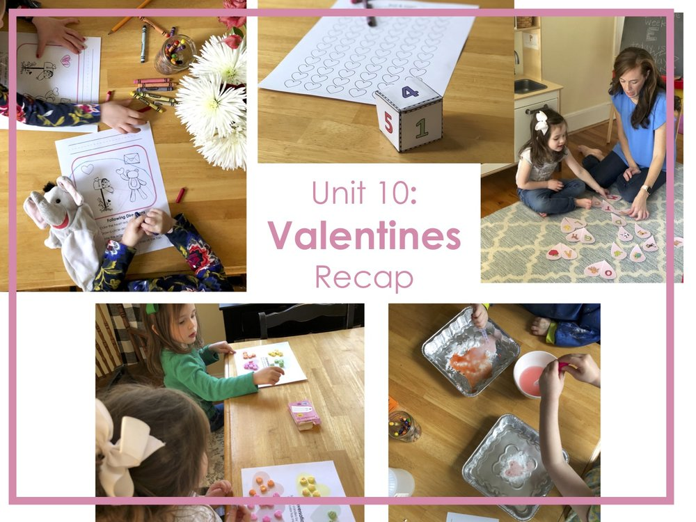 February is one of my favorite times of year! We LOVE celebrating love day! It was a no brainer that we'd include the holiday in our learning! We read some real great valentine books and had a blast incorporating all our learning goals with valentine fun!
