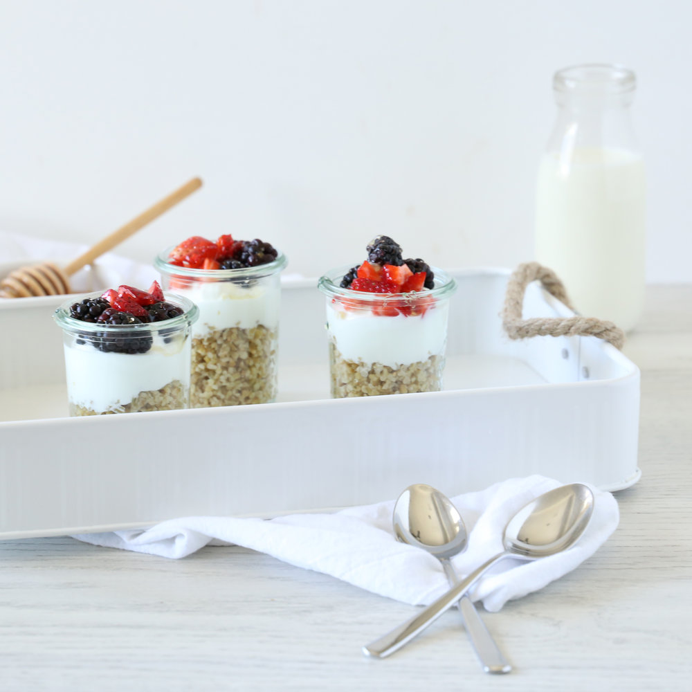 FREEKEH YOGURT PARFAITS