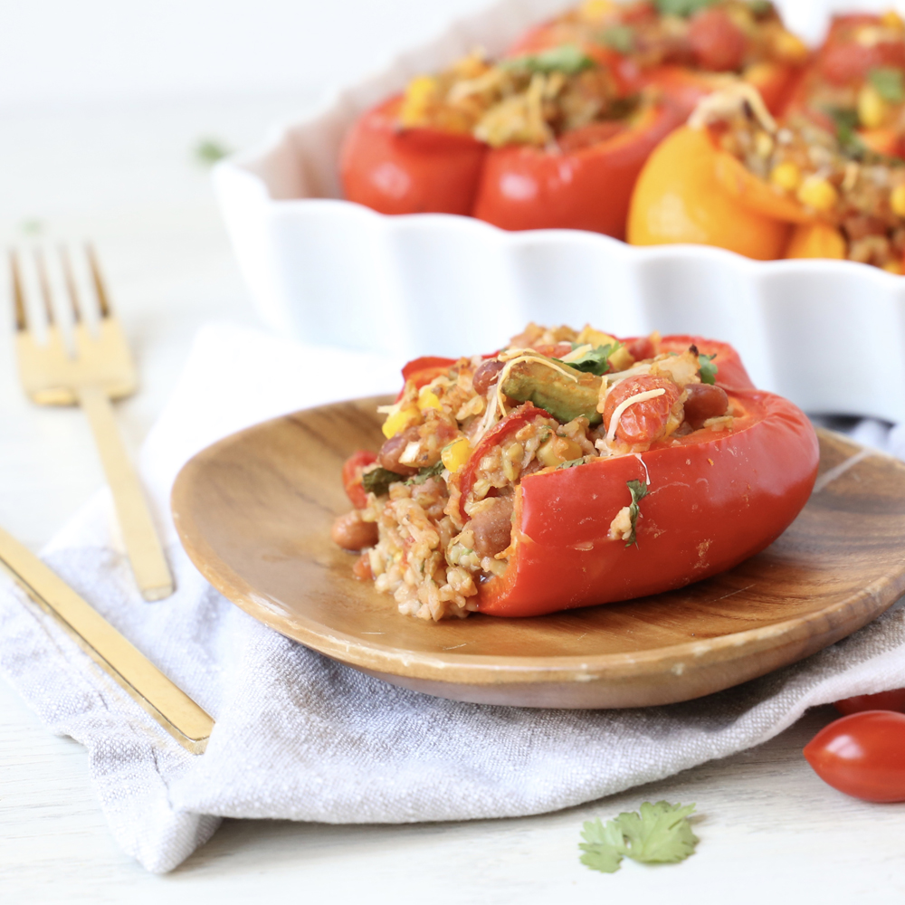 FREEKEH STUFFED PEPPERS