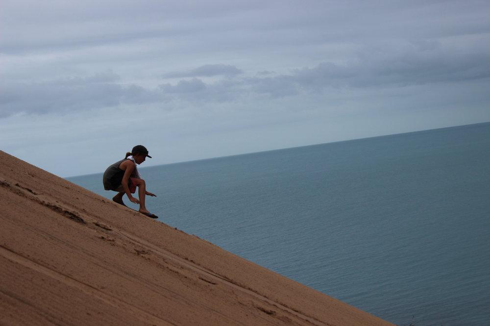 Sand Boarding @ Percy Island