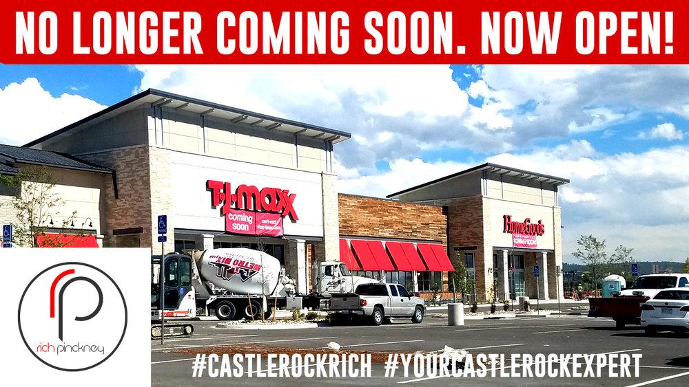 TJ MAXX Castle Rock in Promenade Shopping Center. #CastleRockRich #YourCastleRockExpert