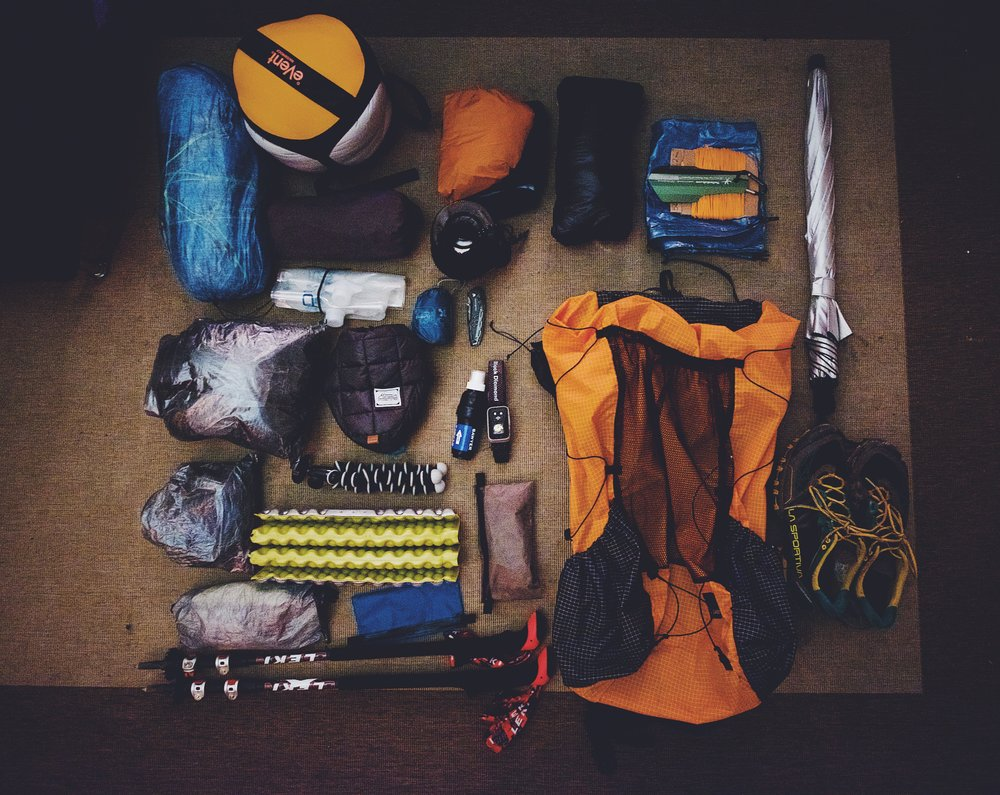 All the non-consumables I'll be carrying through a majority of the trek. Not included: bear can, mirco-spikes, ice-axe, and clothing I'll be wearing. Total base weight: 15.46lbs.