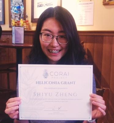 Shiyu Zheng, Spring 2017 Heliconia Grant