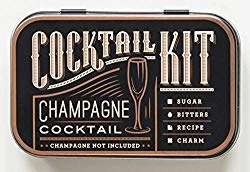 champagne cocktail kit  Yes, yes and yes! Sometimes you need to treat yo' self and a custom cocktail at a moment's notice is just what the doctor ordered. Take it on a plane, to the office or in your drawer at home in case of emergencies. These are so cute you might as well have some ready for instant gift-giving!