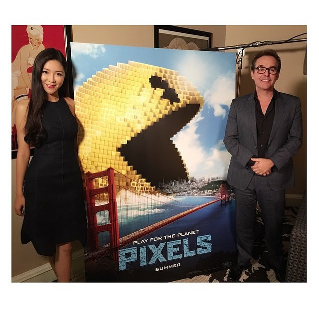 #Hair & #Makeup on my Luv @bettyzhou As Well as male grooming on #Director #ChrisColumbus for the #Movie #Pixels 🎨 #Production #lasvegasmakeupartist #vegasmakeupartist  #makeupartist #SetLife #Shoot #talkingtohollywoodwithbettyzhou #Hollywood #SoLa #LA