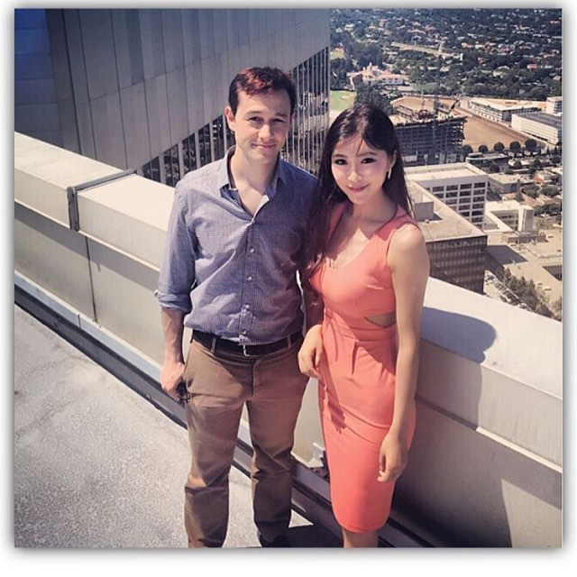 Oh How I miss the #TalkingtoHollyWood Days! 🎥🎨 #Hair & MakeupbyMe on Miss @bettyzhou  for her interview with actor #josephgordonlevitt 🙌🏻 On top of one of the Tallest buildings in #LA for the Movie The Walk 🎬 Such an awesome Experience 💯 probably one of the nicest actors we had the pleasure of interviewing 💯💯💯😘#lasvegasmakeupartist #vegasmakeupartist #makeup #production #SetLife #SoLA #LAMakeupArtist #lamakeup