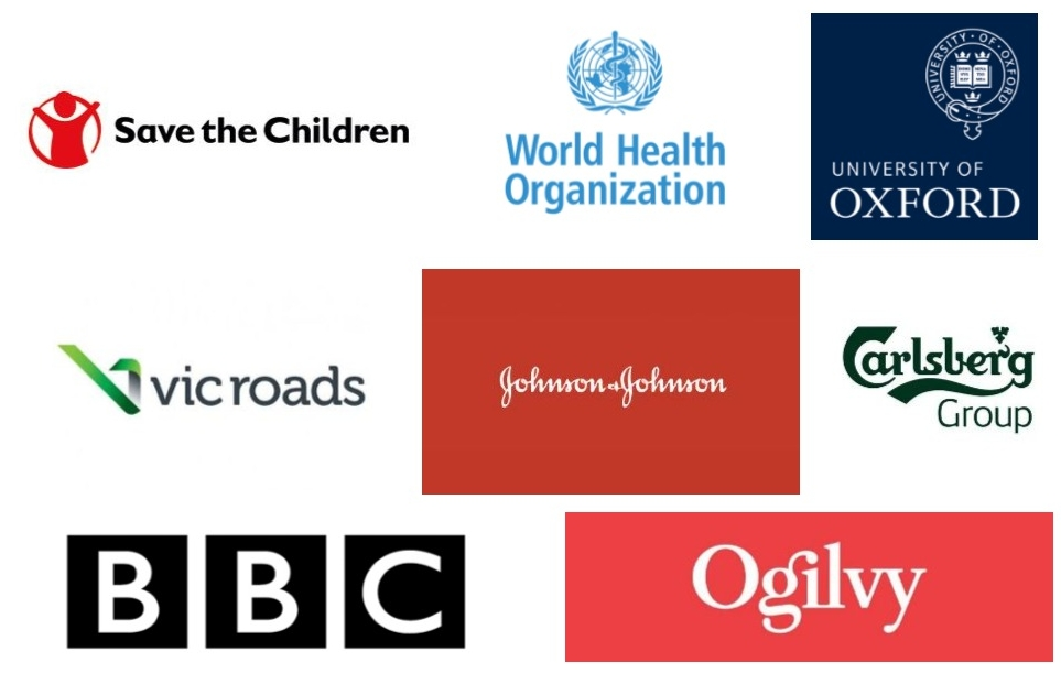 Some of the organisations we've worked with