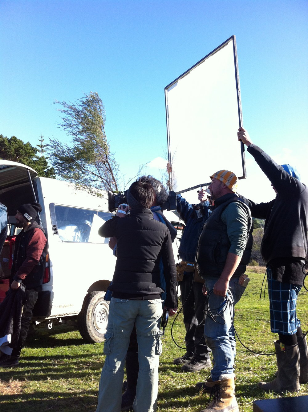 Filming 'The Pa Boys' on location