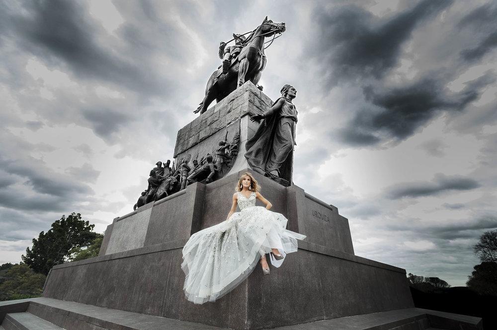 Tributo a Buenos Aires -  Oscar de la Renta  Tulle Gown
