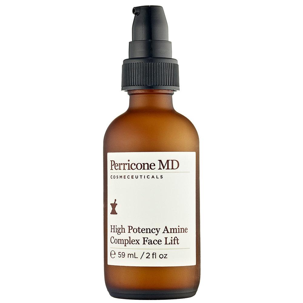 """High Potency Amine Complex Face Lift by Perricone MD  Con vitamina C y DMAE, High Potency es un tratamiento altamente concentrado para afirmar y tonificar el cutis, mientras reduce los daños provocados por el sol. Es uno de los """"must have"""" esencial para una piel divina."""