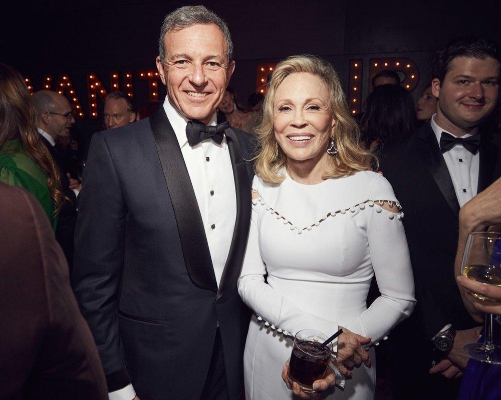 Bob Iger & Faye Dunaway