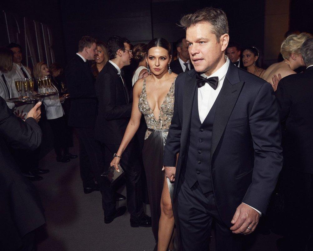 Luciana Barros & Matt Damon