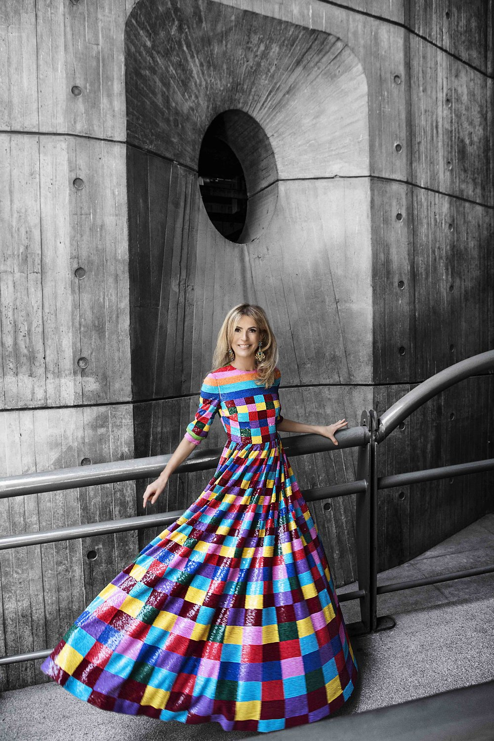 RossellaDGP_ColorBlock_Longsleeve_Rossella_Della_Giovampaola_Valentino_Embroidered_Dress_Buenos_Aires_2017.jpg