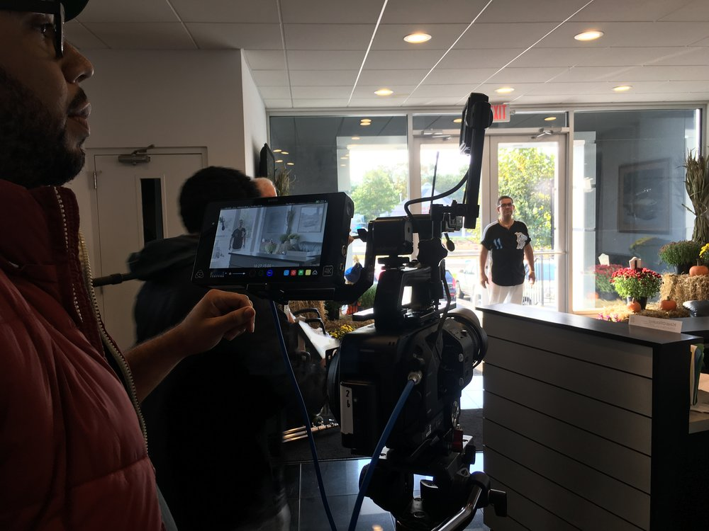 the sony fs7 at a recent film shoot
