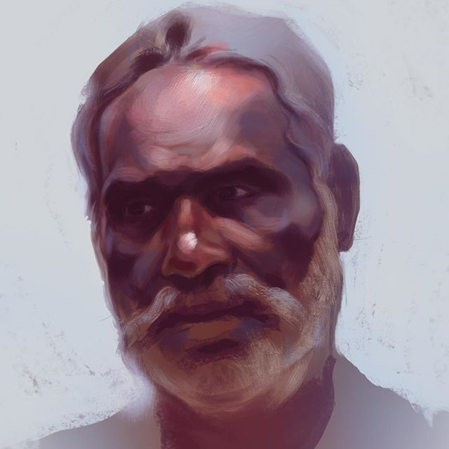 Getting back into my Kerala series again. It's been too long! Here's a quick, rough portrait. . . . #portrait #portraitpainting #portraitoftheday #portraiture #instaartist #ithacany #upstateny #NY #instaart #artistsofinstagram #digitalart #digitalpainting #art #artwork #illustration #painting #creativeuprising #india #kerala