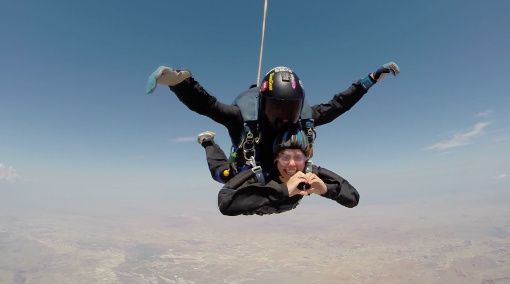 Free falling with Skydiving Cyprus.