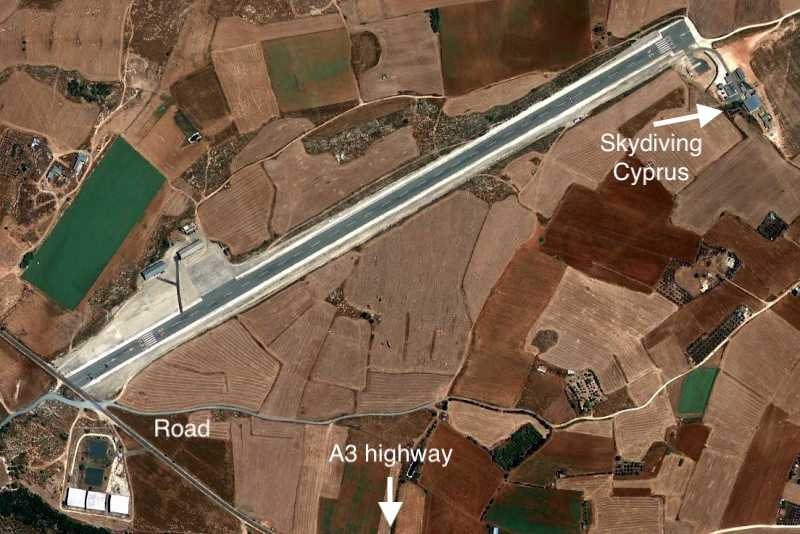 Map of the Skydiving Cyprus site.