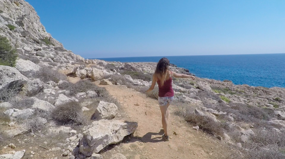 Walking around Cape Greco Natural Park.