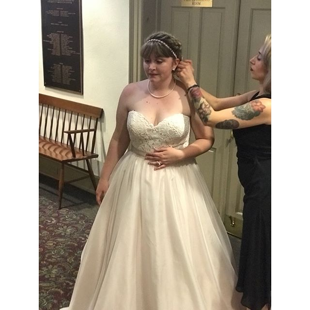A hairdresser's work, is never done😋 Watching this lady walk down the aisle was so beautiful. And we were thrilled to be included in her big day💕 Love you forever lil' sis😘 #bride