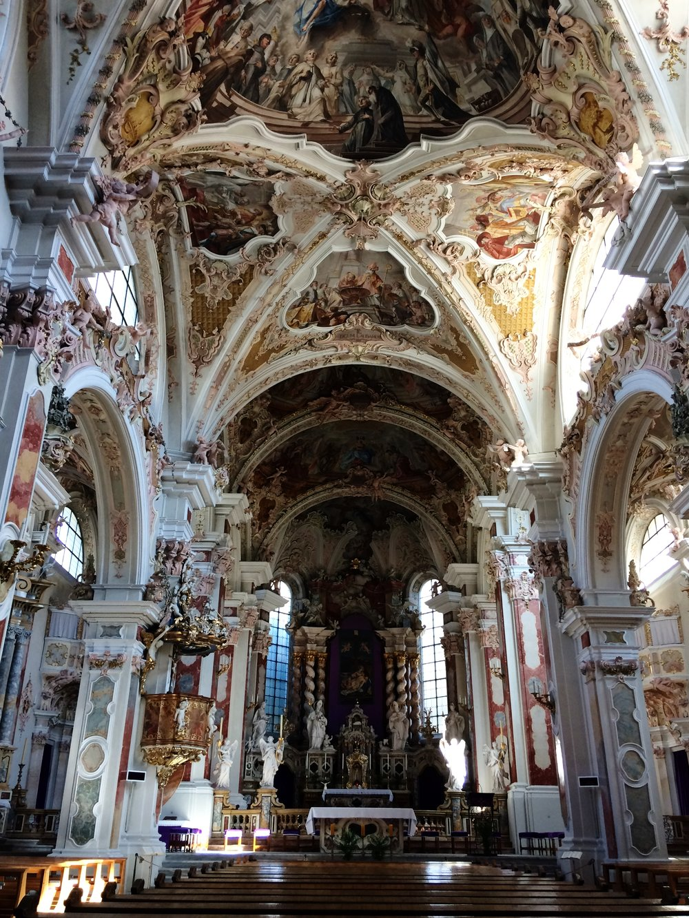 The view inside the Stiftskirche in the Neustift Monastery in South Tyrol, where we'll be getting married this summer (and which I only saw for the first time last week - isn't it stunning?)