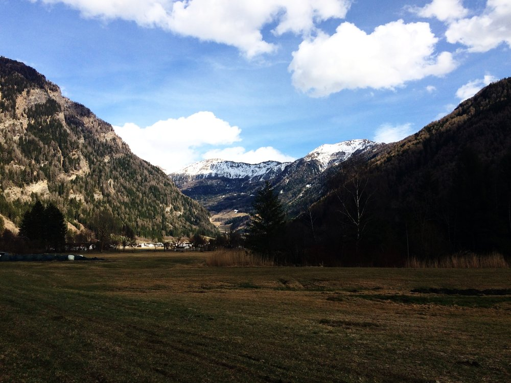 Walking near Sterzing, South Tyrol.