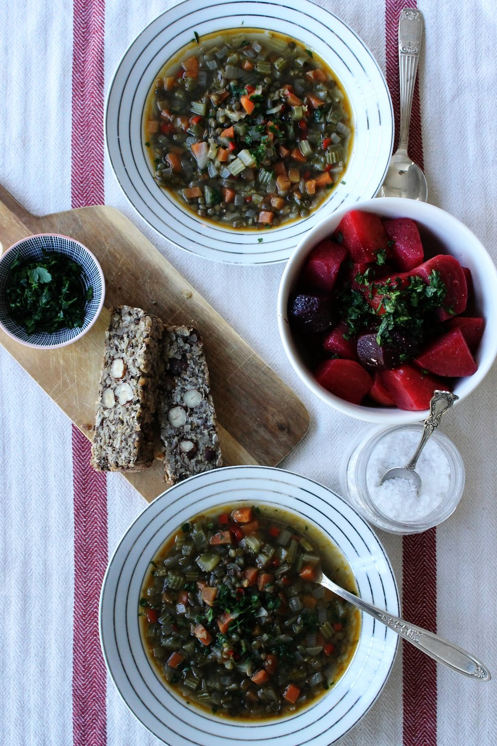 Greek lentil soup (vegan) | Beloved Kitchen