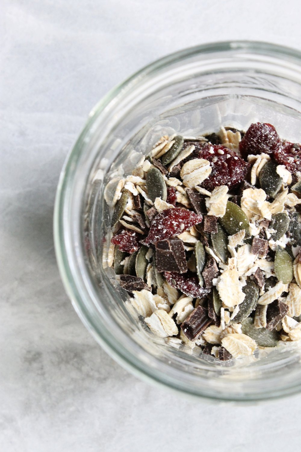 Individual cranberry-chocolate bircher pots | Beloved Kitchen