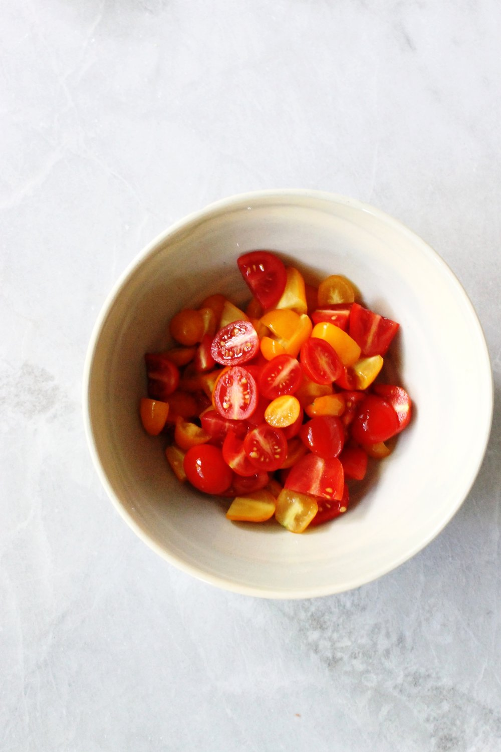 Heirloom tomato salad with burrata and pickled shallots | Beloved Kitchen