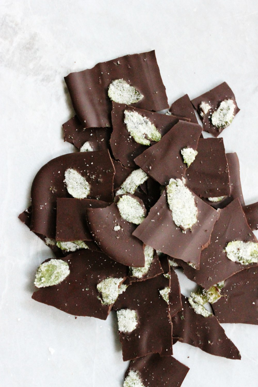Mint chocolate bark | Beloved Kitchen