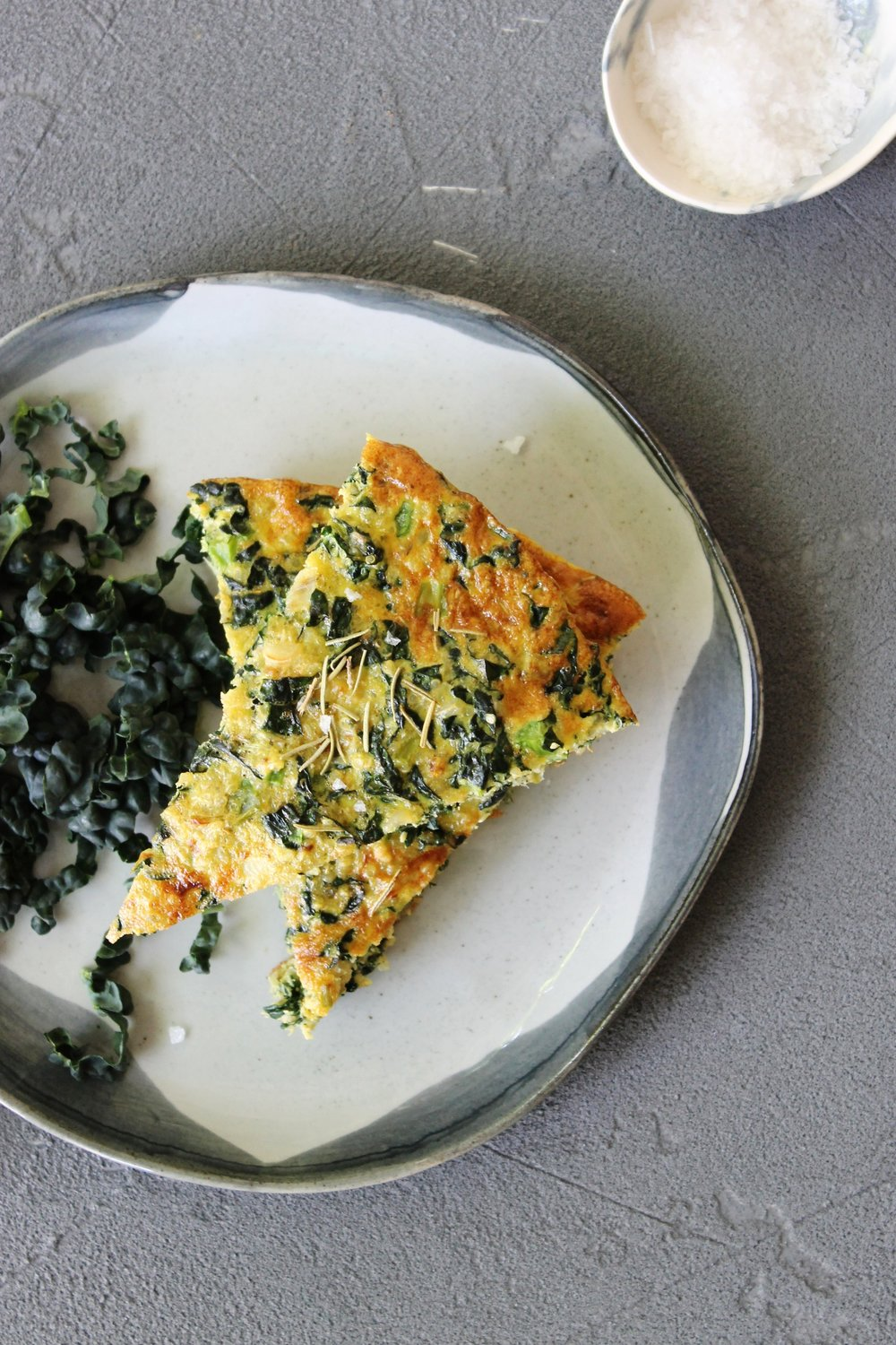 Quinoa and kale frittata {gluten free} | Beloved Kitchen