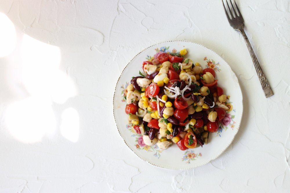 Summer mixed bean salad | Beloved Kitchen