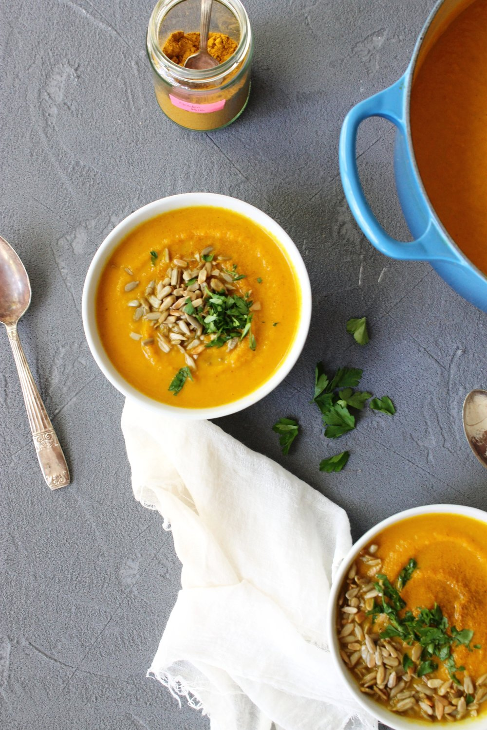 Spiced carrot soup {vegan & gluten free} | Beloved Kitchen