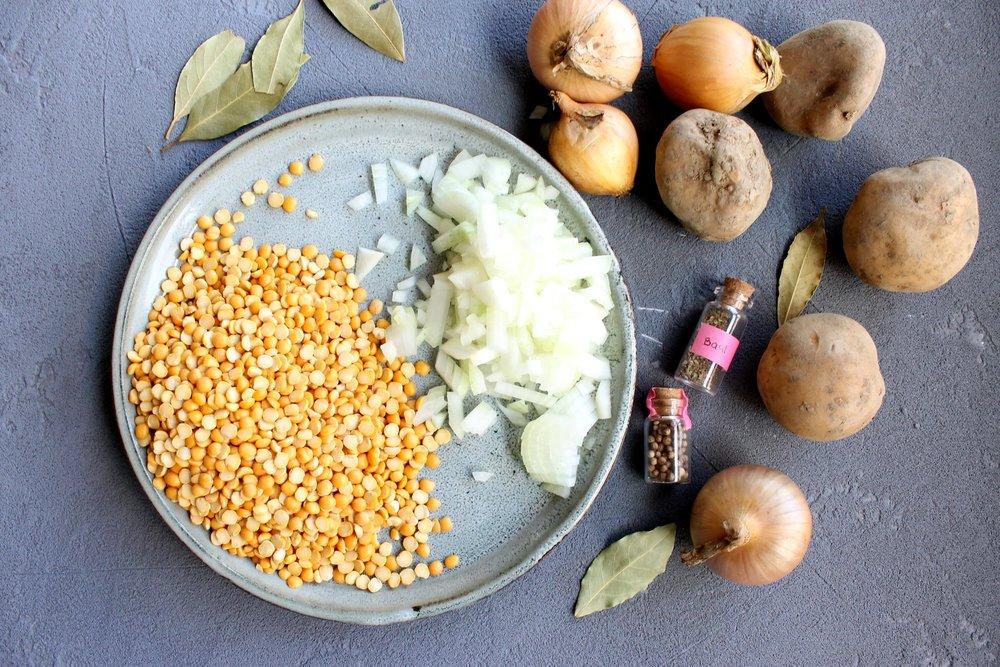 Golden split pea soup   Beloved Kitchen