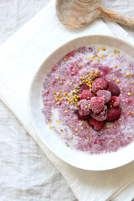 Raspberry chia pudding {vegan & gluten free} | Beloved Kitchen