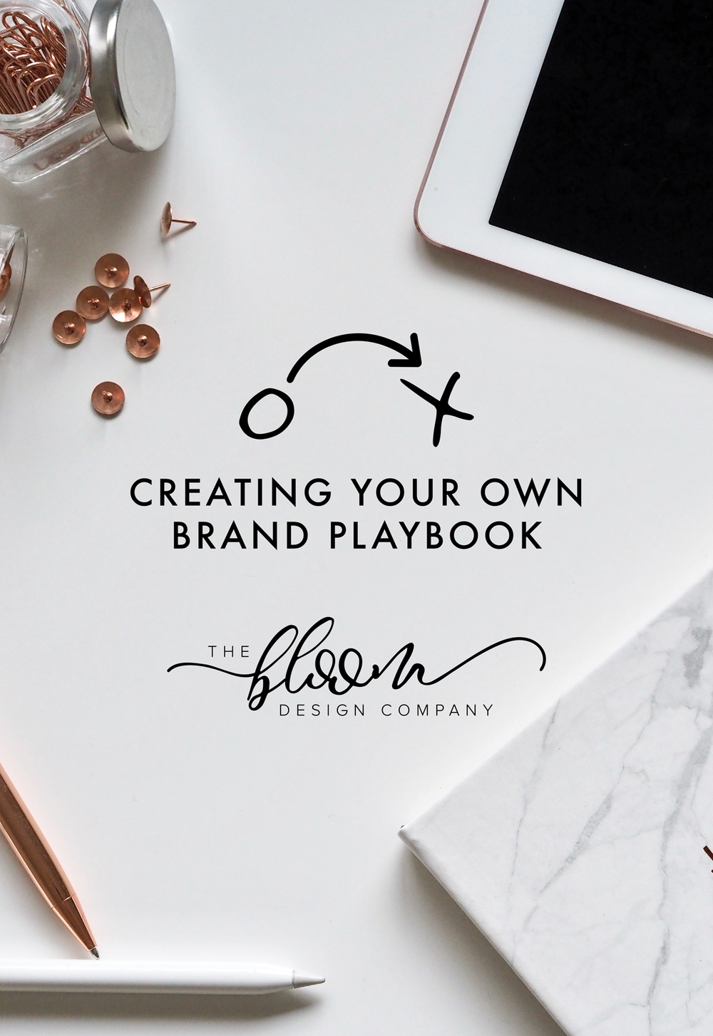 How to Create Your Own Brand Playbook Digital Download E-book including design tips and brand development and strategy resources