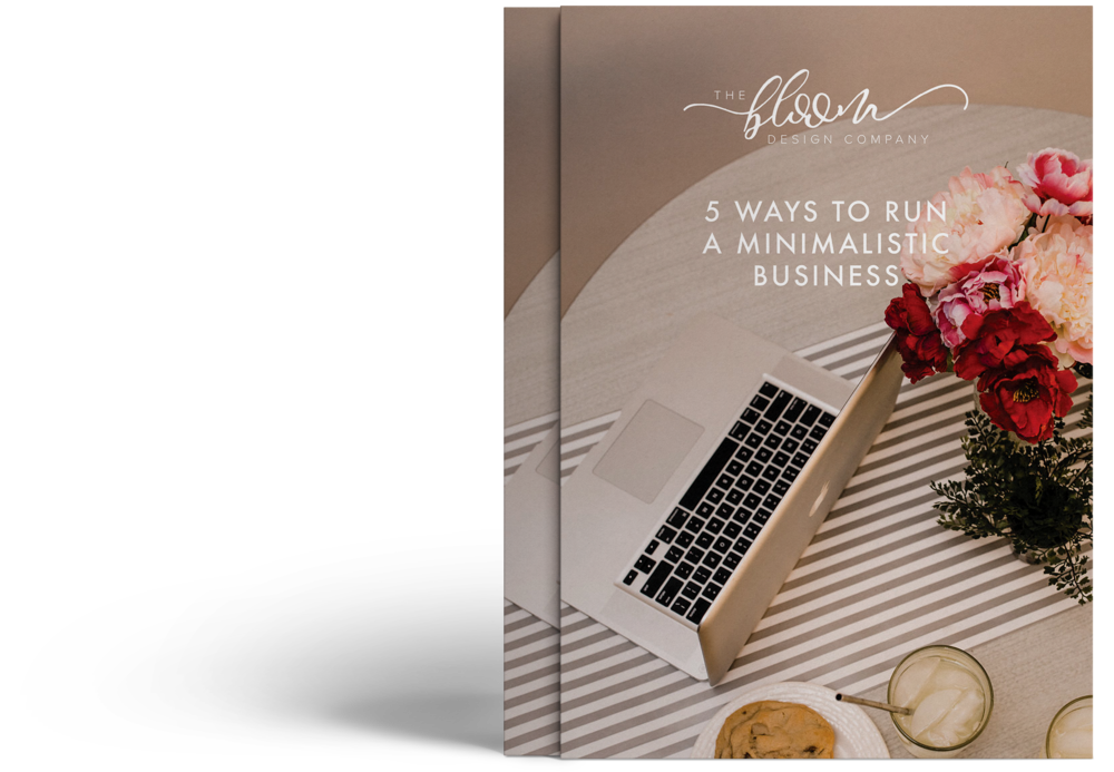 how to run a minimalistic business free resource digital download for creative business owners