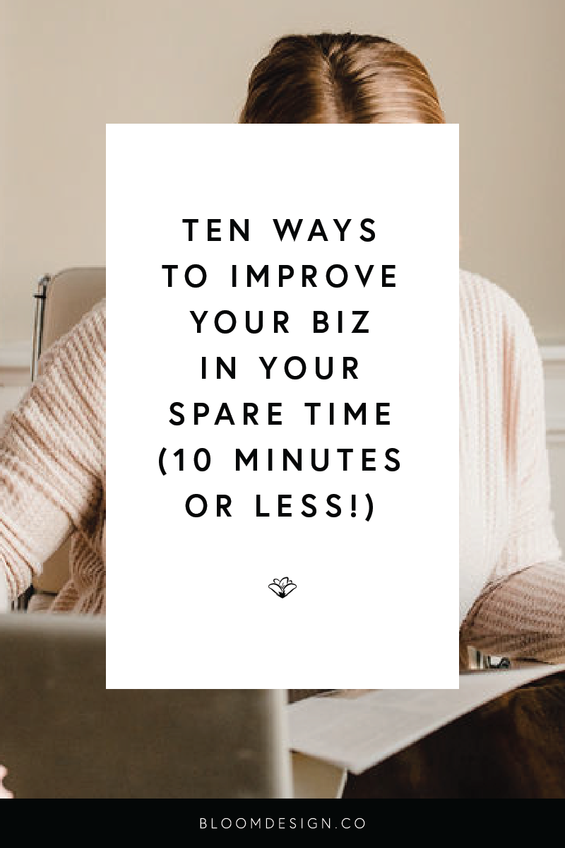 Trust me, I know how little time you have for your business as a stay-at-home mom. I'm one, too! The key to balancing motherhood with your side hustle is learning how to work and operate a business in the spare time you have waiting for kids in the pick-up line, while the kids are in the tub, whenever there is a calm moment while the kids are playing — any chance you get! Check out the ten things I'm suggesting on the blog today that will improve your business in ten minutes or less. #girlboss #bossbabe #momboss #momtrepreneur #sidehustle #creativepreneur #sidegig #etsyshop #etsyseller #smallbusiness #motherhood #selfcare