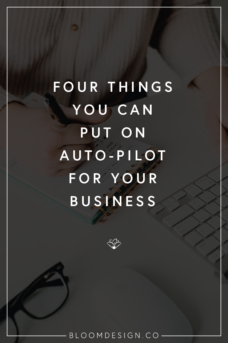 When you're running a side hustle, every little second counts. Today I'm sharing four ways you can stay efficient and build some automation into your normal business routines so that you can be spending that time doing other things! #girlboss #momboss #bossbabe #momtrepreneur #creativepreneur #smallbusiness #sidehustle #sidegig #sahm #wahm #workfromhomemom #graphicdesign #branding #etsy #etsyshop #etsyseller #pricing #productpricing