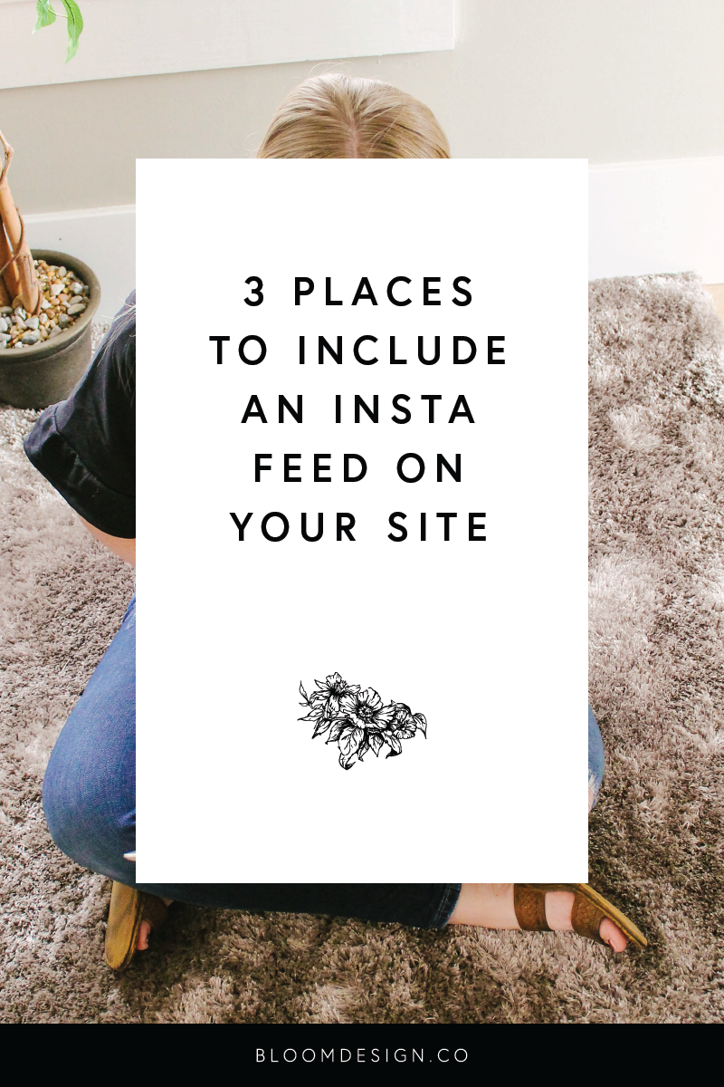 Three places you can include an instagram feed on your website
