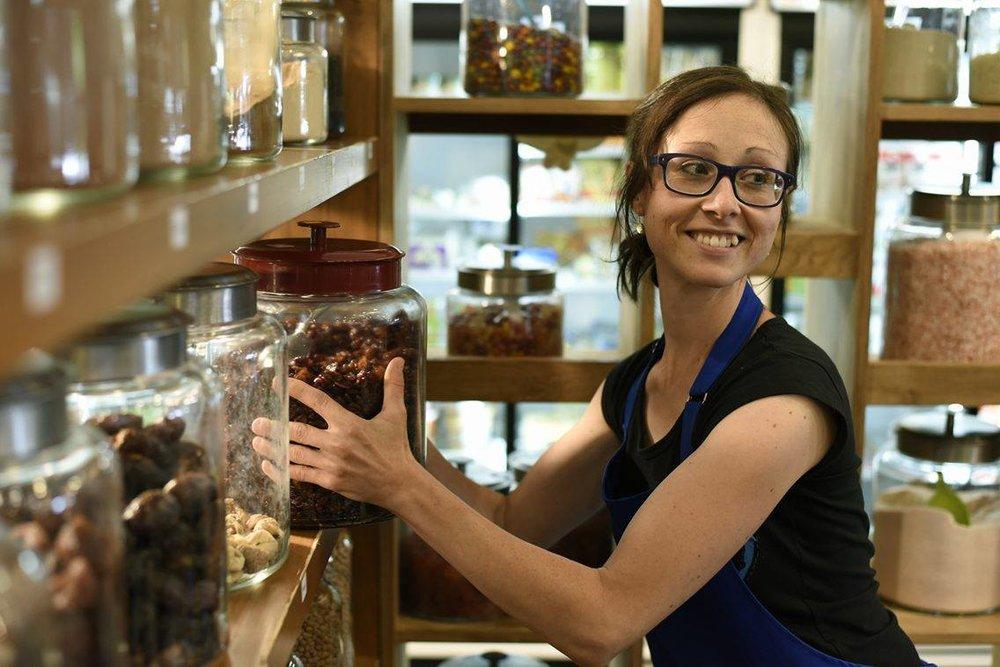 Alexandra Romero, co-propriétaire de L'Épicerie futée