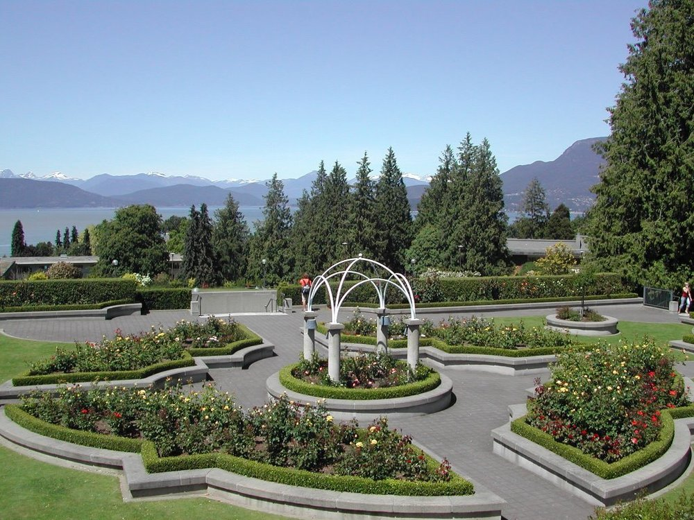 The Rose Garden at UBC, right above the Sociology building. Image source: http://mapio.net/pic/p-24042569/