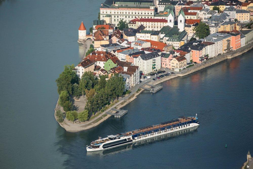 AMAPRIma RiverBoat on the Danube River,PAssau,Germany
