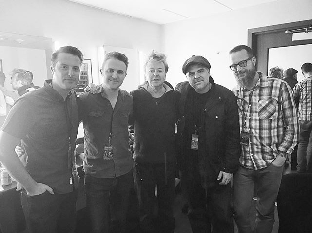Thanks to @briansetzer59 for stopping in our dressing room to chat, and for a great xmas show last night in LA. Great way to end this last little US tour. Happy Christmas