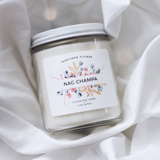 I've always wanted to make this scent into a candle, but, wasn't sure how it would go over with my customers. Personally, I've always loved the smell of incense, or going into a 'hippy shop' and breathing in patchouli and sandalwood. Nag Champa will be burning in our house for awhile and I hope that you guys will love it as much as we do 🕯🧡