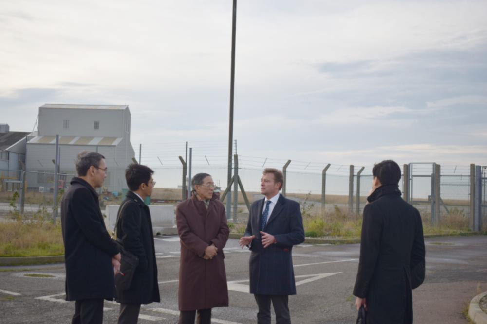 Craig and the Taiwanese Trade Delegation at Manston Airport