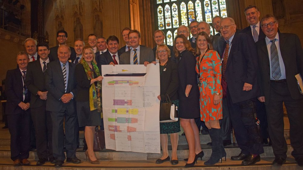 Bring Back Britannia MPs' photo call1 Westminster Hall 20 Dec17.jpg