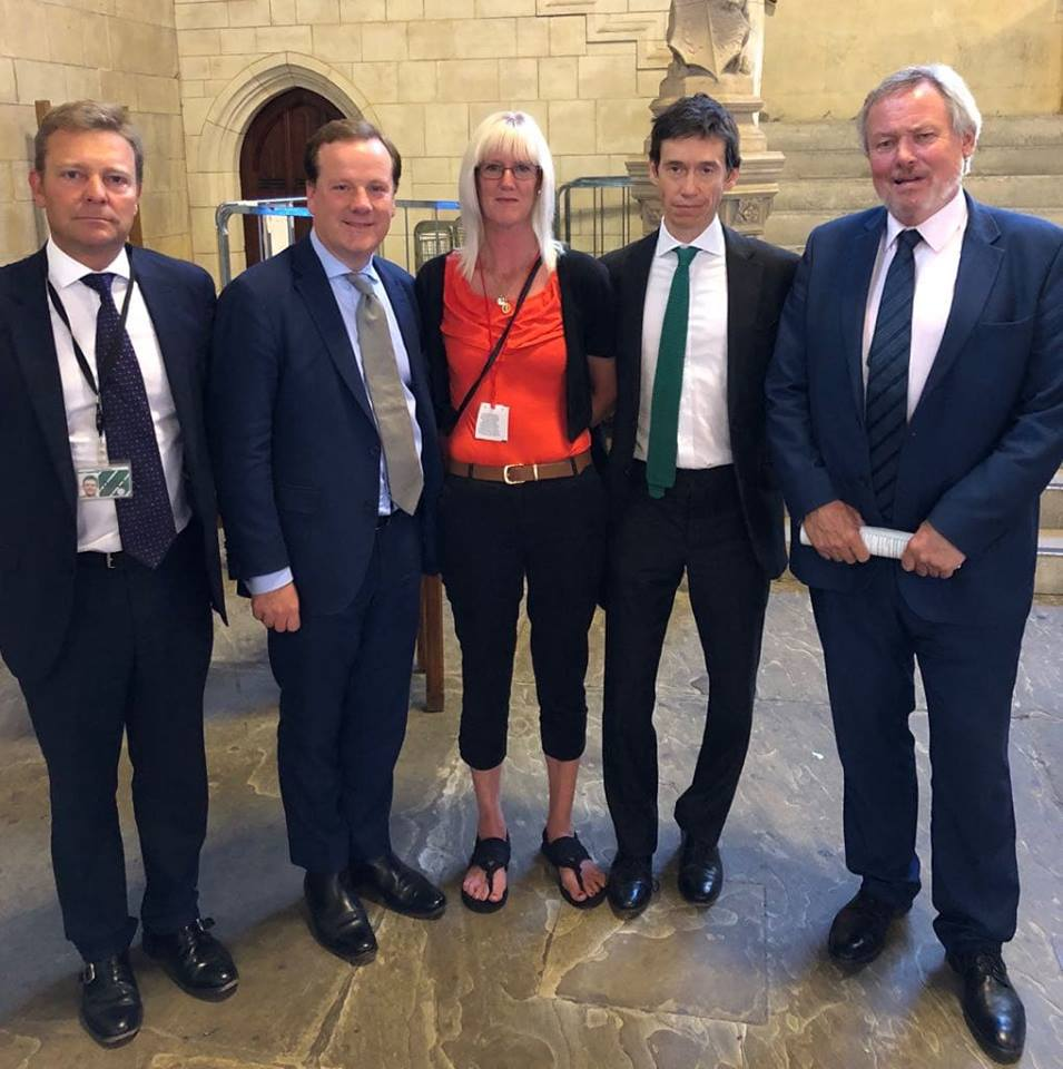 Left to right: Craig Mackinlay MP, Charlie Elphicke MP, Michelle Parry, Minister Rory Stewart MP, Giles Watling MP